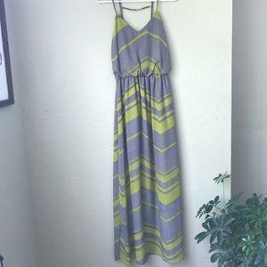Chevron City Triangles maxi dress